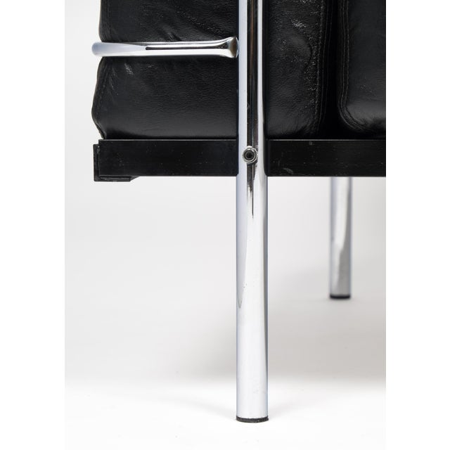 Vintage Le Corbusier Style Leather and Chrome Sofa For Sale - Image 10 of 10