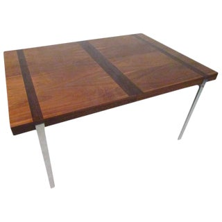 Mid-Century Rosewood Inlay Dining Table For Sale