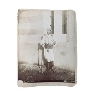 Early 20th Century Egyptian's Albumen Photograph For Sale