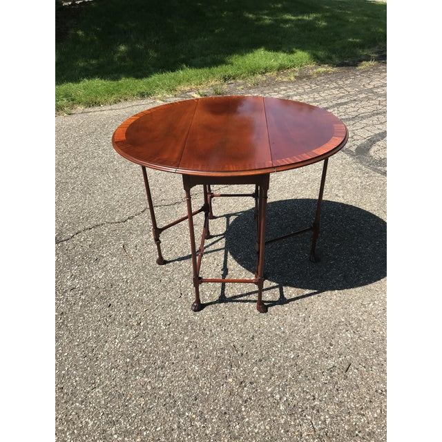 Traditional Claw Foot Walnut Side Table by Baker Furniture For Sale - Image 10 of 10
