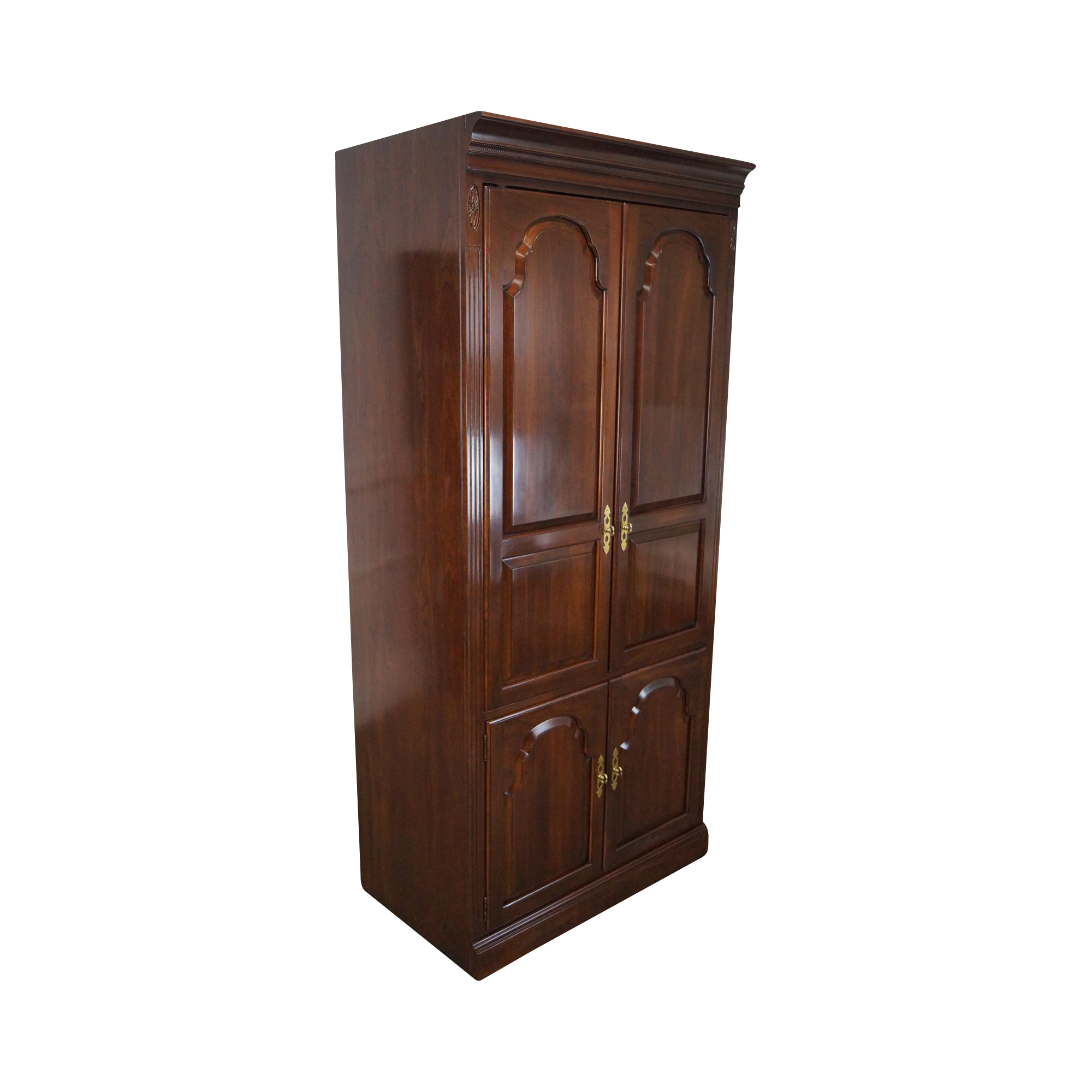 Ethan Allen Georgian Court Solid Cherry Entertainment Cabinet Armoire