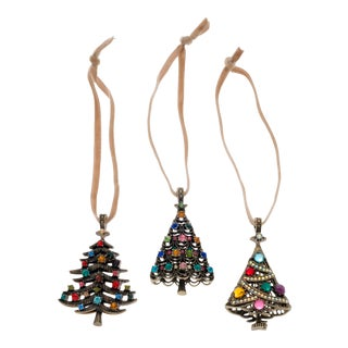 Christmas Tree Hanging Ornaments - Set of 3 For Sale
