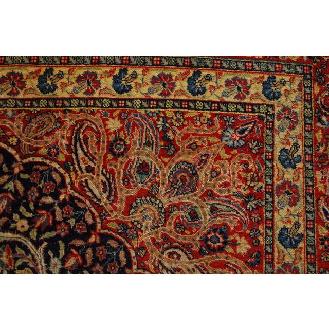 """Mid 19th Century Antique """"Bird-Of-Paradise"""" Persian Tabriz Rug - 6′3″ × 8′10″ For Sale - Image 5 of 6"""