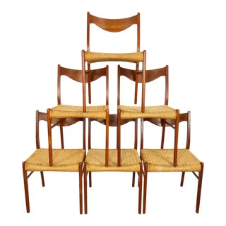 Set of 6 Danish Dining Chairs by Arne Wahl Iversen for Glyngøre Stolfabrik For Sale