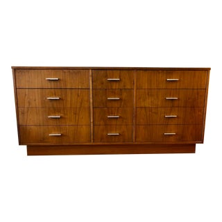 Mid Century Modern Walnut Lowboy by Dixie For Sale