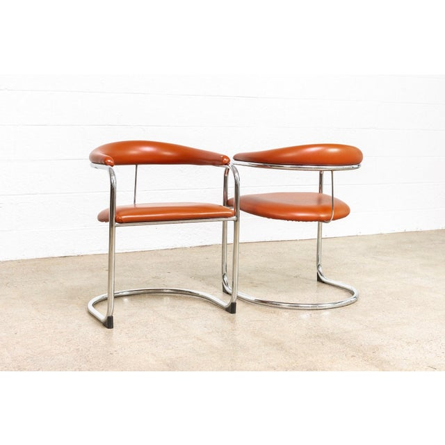 1970s Mid Century Anton Lorenz Cantilever Chairs For Sale - Image 5 of 11
