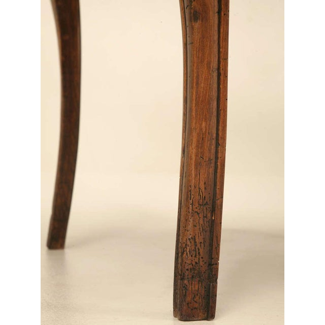 Brown 18th Century Antique French Louis XV Marble Top Cherry Side Table For Sale - Image 8 of 10