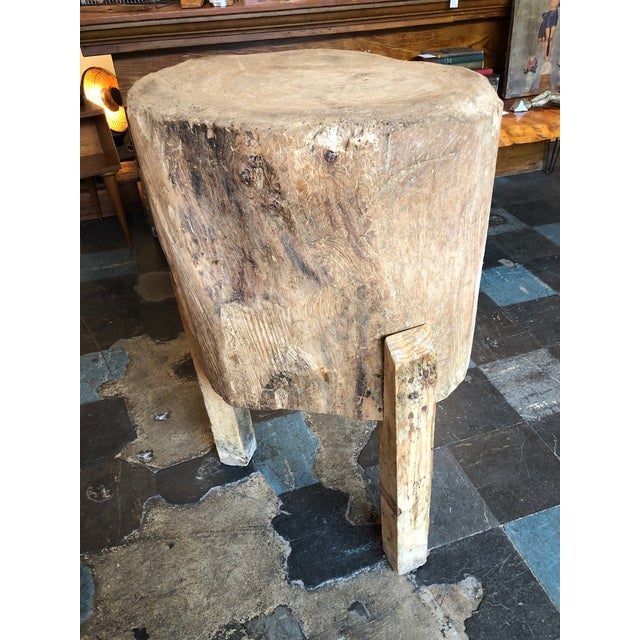 Brown 20th Century Organic Modern Tree Trunk Chop Block For Sale - Image 8 of 8