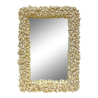 Seashells-Framed Half-Length Mirror For Sale