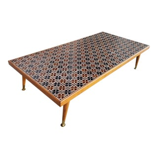 Mid-Century Mosaic Tile Coffee Table For Sale