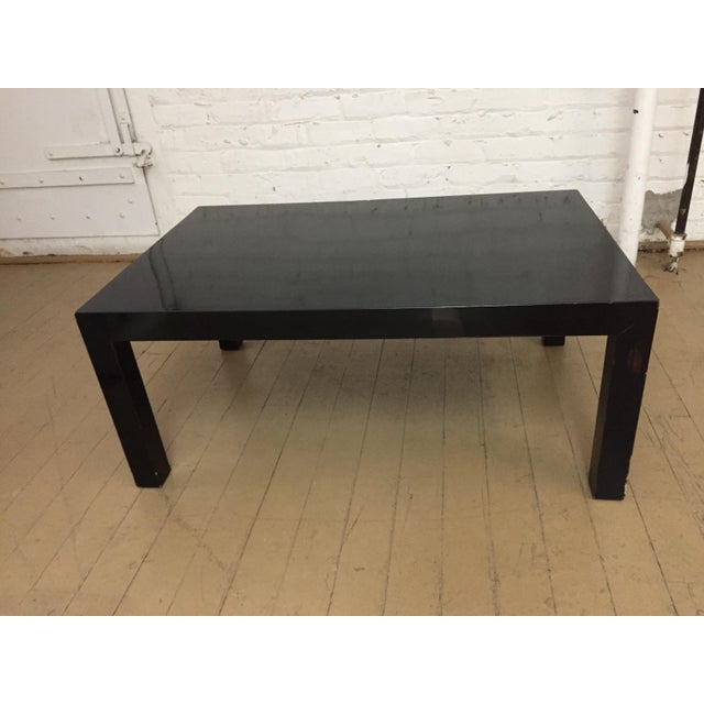 these iconic 1970's black lacquer tables are from our childhood home they were used every where - and added function as...