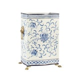 Image of Chelsea House Inc Blue & White Wastebasket For Sale
