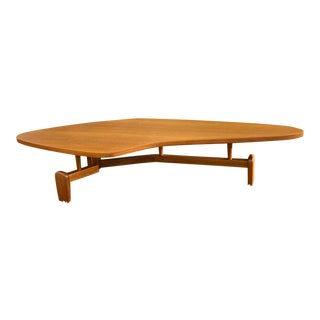 Mid-Century Modern Mahogany Outrigger Coffee Table by John Keal For Sale