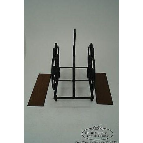 Custom Ornate Scrolled Wrought Iron Spanish Style Magazine Stand For Sale - Image 4 of 13