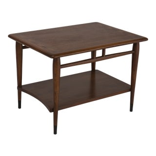 1970s Mid Century Modern Altavista Lane Acclaim Walnut & Oak End Table For Sale