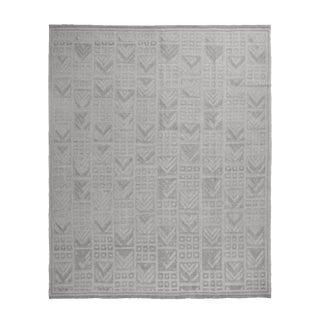Scandinavian Inspired Geometric Gray Wool Pile Rug - 8′2″ × 10′ For Sale