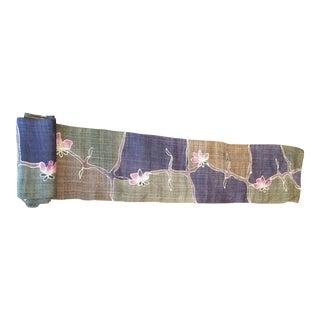 Organic Hand Spun Batik Floral Roll Fabric For Sale
