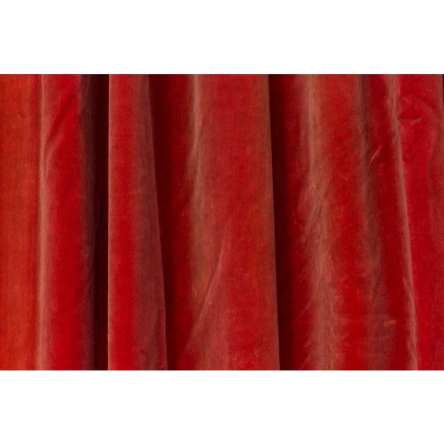 Two Pairs of Paprika Color Velvet Drapes For Sale In New York - Image 6 of 11