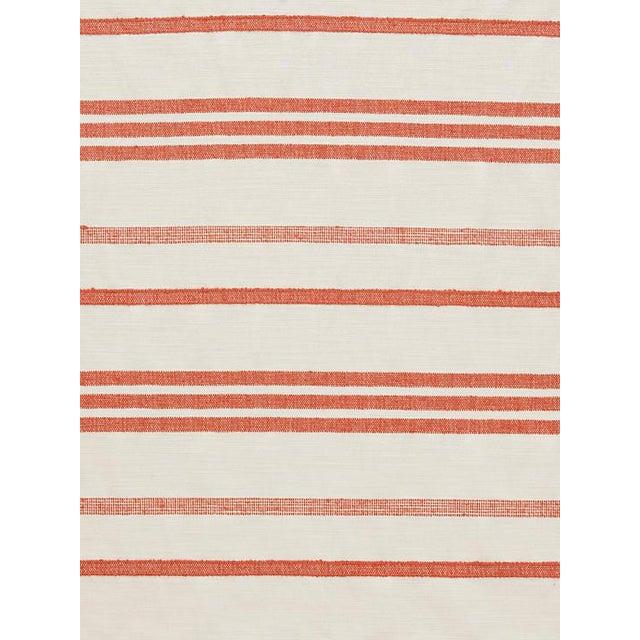 Transitional Sample, Scalamandre Marina Stripe Terracotta Fabric For Sale - Image 3 of 3