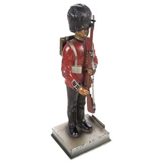 Vintage British Guard Lead Figurine Lighter For Sale