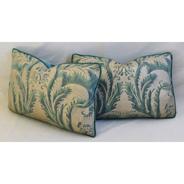 Italian Mariano Fortuny Feather/Down Accent Pillows - Pair For Sale - Image 9 of 13