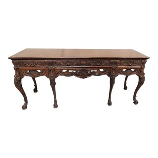 20th Century Georgian Style Carved Sideboard For Sale