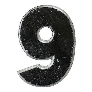 Vintage Metal Drive-In Number 9 For Sale