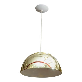Mid Century Lightolier Half-Globe Pendant Light For Sale