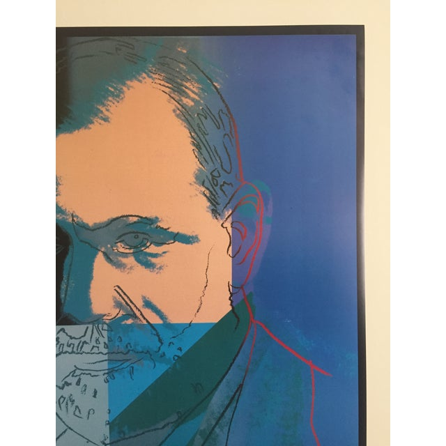 Modern Andy Warhol Sigmund Freud Original Offset Lithograph Print Poster 1980 For Sale - Image 3 of 9