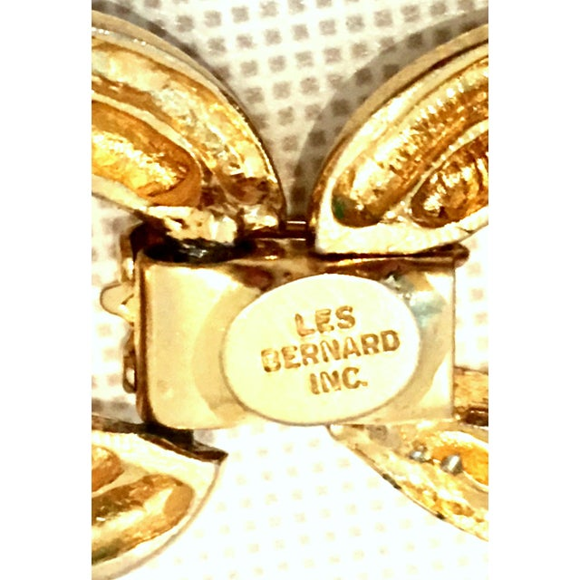 Gold 20th Century Les Bernard Gold & Enamel Chain Link Choker Necklace For Sale - Image 8 of 9