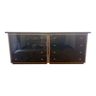 Roche Bobois Black Lacquer Long Dresser For Sale