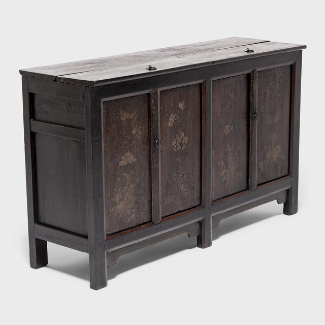 Early 20th Century Chinese Four Seasons Painted Coffer For Sale - Image 5 of 13