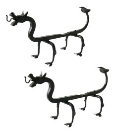 Image of Wrought Iron Andirons and Chenets