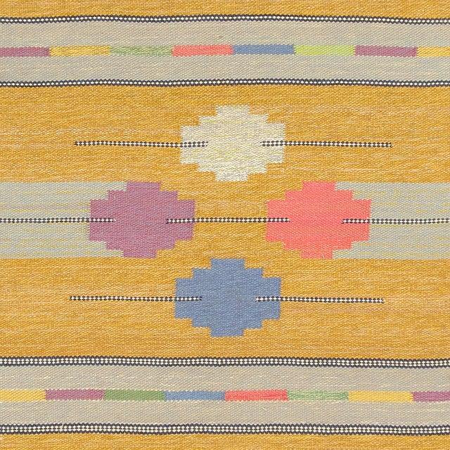 FJ Hakimian Swedish Flat Weave Rug- 4′1″ × 7′4″ For Sale - Image 4 of 6