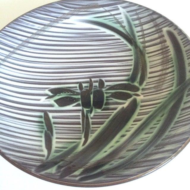 Vintage Mid-Century Modern Occupied Japan Irises Ceramic Plate Bowls - 5pc Set For Sale - Image 4 of 11