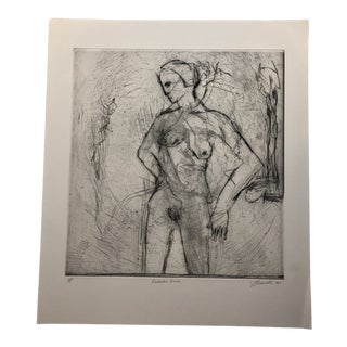 """""""Distorted Nude"""" Etching by Jon Fasanelli-Cawelti 1985 For Sale"""