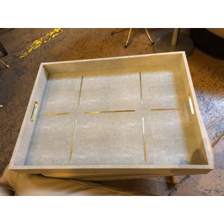 Made Goods Daina in Sand Realistic Faux Shagreen Tray Preview