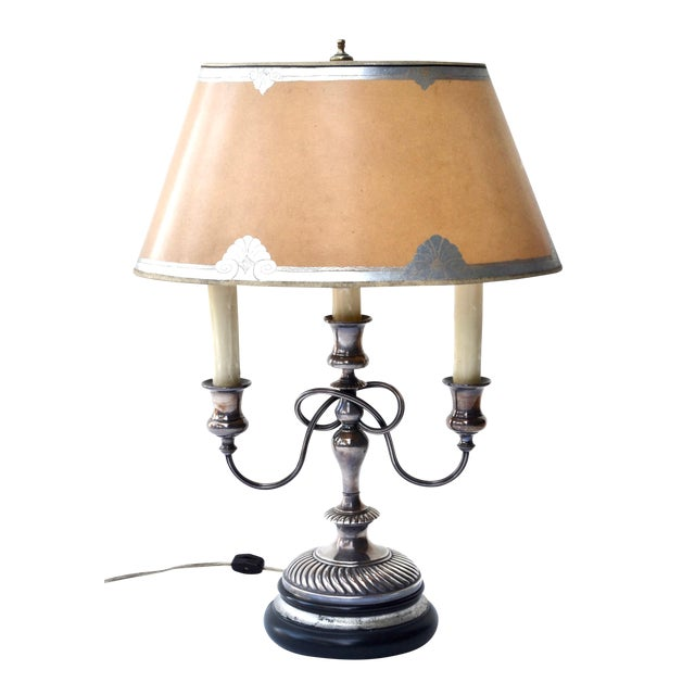 19th Century Silver Bouillotte Lamp From France, Signed E.Kennedy For Sale