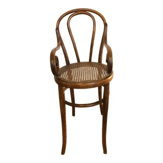 Late 19th Century Vintage Thonet Tall Bentwood Children's Chair For Sale