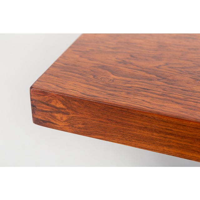 1960s Milo Baughman Rosewood and Lucite Coffee Table For Sale - Image 5 of 10
