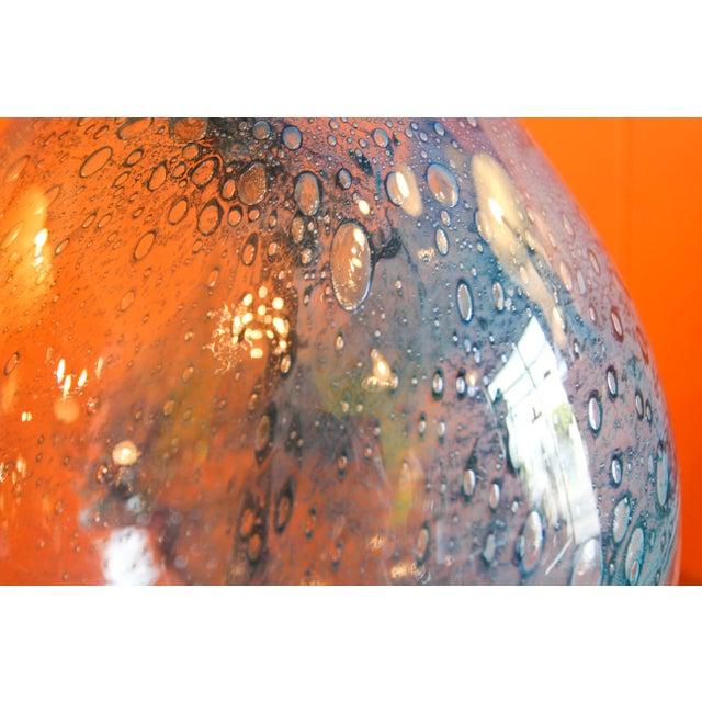 Blue Pukeberg Eva Englund Art Glass Vase For Sale - Image 8 of 12