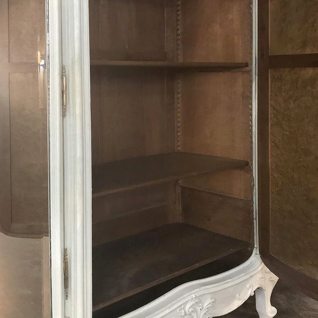 19th Century French Louis XV Painted Triple Armoire For Sale - Image 11 of 13