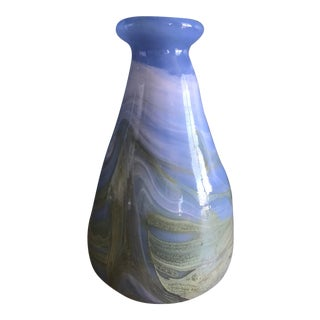 1970s Studio Art Glass Vase - Signed and Dated For Sale