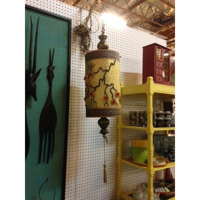 1940s Chinoiserie Hanging Swag Lamp - Image 2 of 3