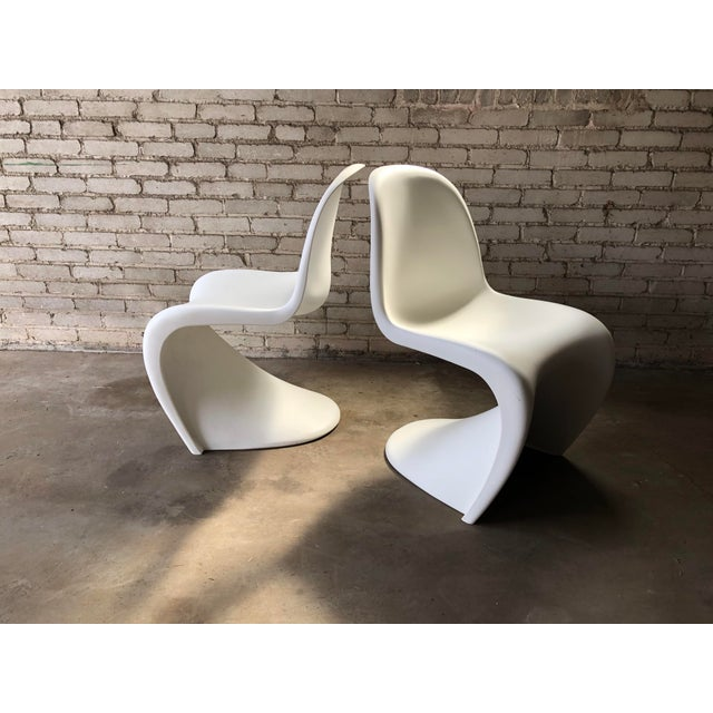 Vitra 'Panton' Dining Chair designed by Verner Panton, 1960. Interested in the capability of plastic, Panton designed the...