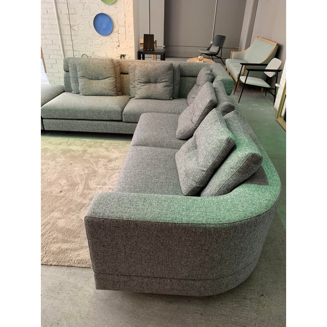Charcoal Contemporary Sectional Sofa For Sale - Image 7 of 8