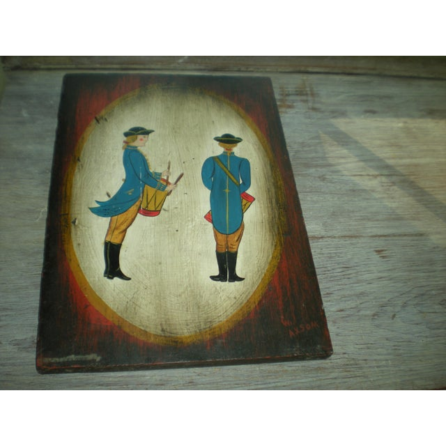 Vintage Painted Soldier Painting - Image 2 of 5