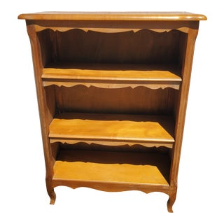 Vintage French Country Wooden Bookcase For Sale