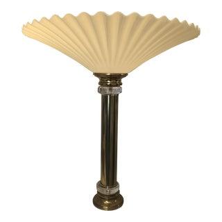 1960s Vintage Hollywood Regency Fan Table Lamp For Sale