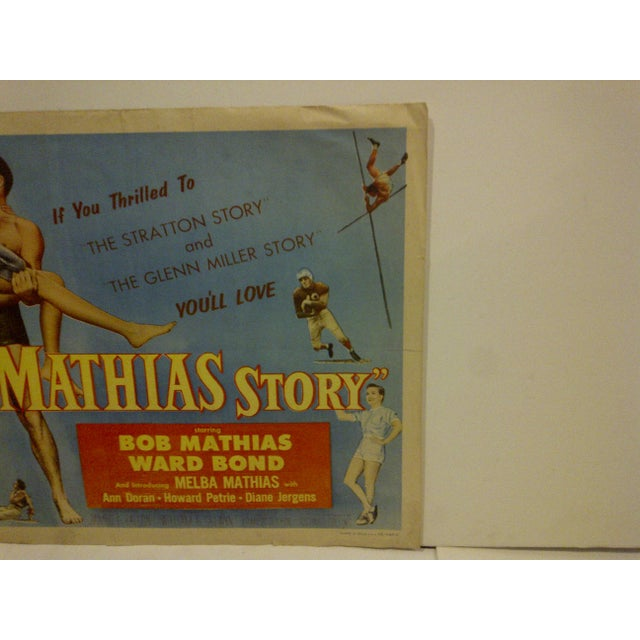 """1954 Vintage Movie Poster of """"The Bob Mathias Story"""" For Sale - Image 4 of 5"""